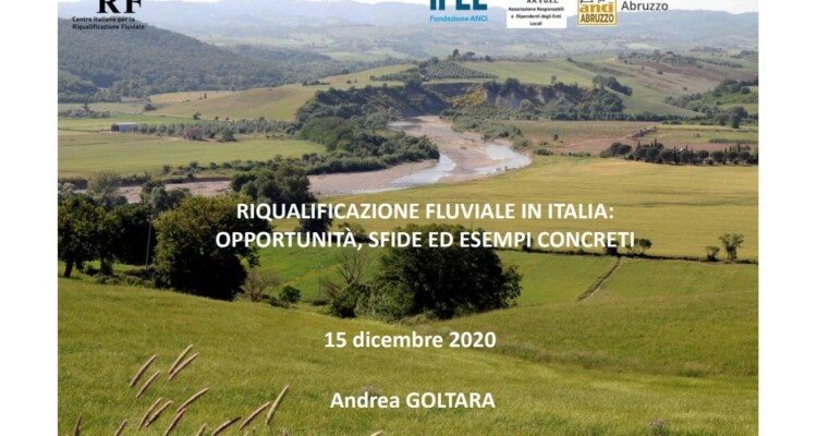 verso il contratto di fiume - presentazione Andrea Goltara direttore CIRF