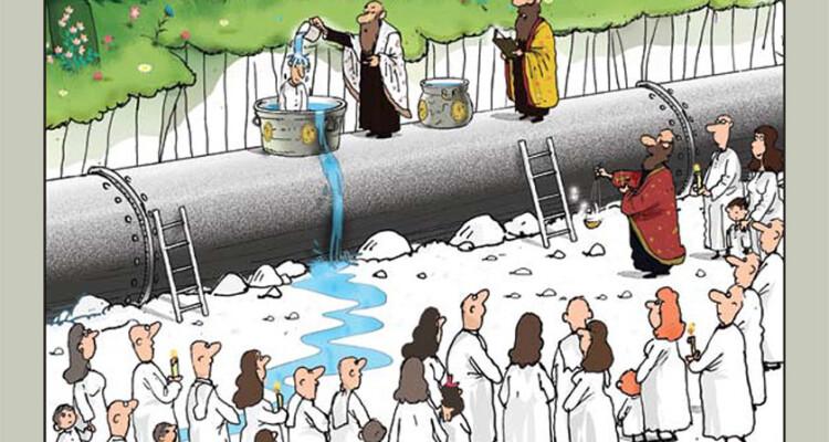 fumetto contro mini centrali idroelettriche