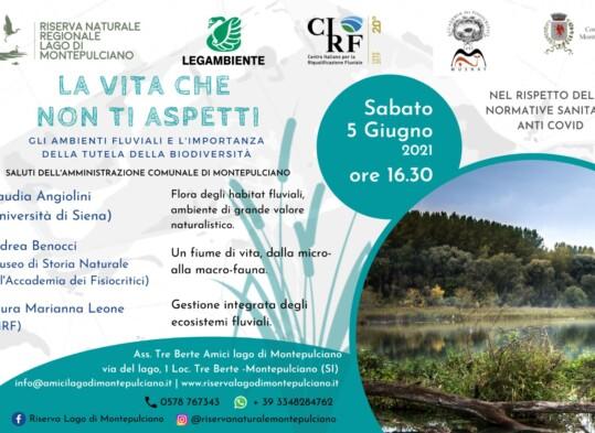 Locandina evento ambienti fluviali e la tutela della biodiversità